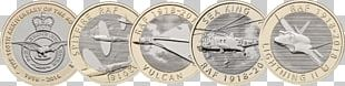 Royal Mint Two Pounds Royal Air Force Supermarine Spitfire Coin PNG