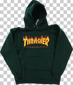 Hoodie T-shirt Bluza Thrasher Flame Logo Hoody PNG
