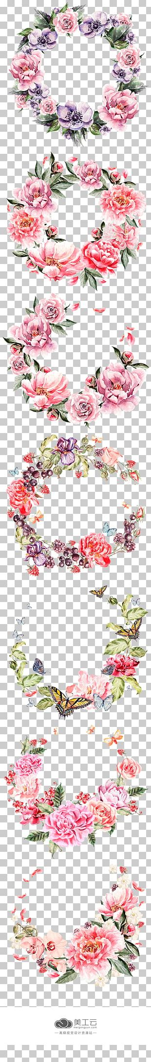 Wreath Flower Pink PNG