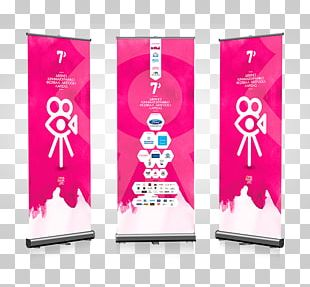 Technology Banner Pink M PNG