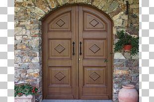 Wood Stain Facade Door Arch PNG