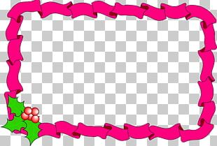 Borders And Frames Candy Cane Christmas Decoration PNG