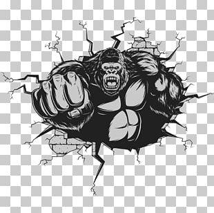 Gorilla Ape King Kong Cartoon PNG