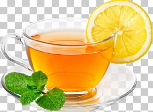 Green Tea Coffee Iced Tea Lemon PNG