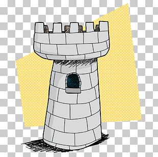 Fortified Tower Cartoon Castle Drawing PNG