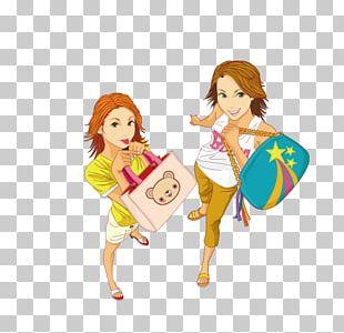 Woman Shopping PNG