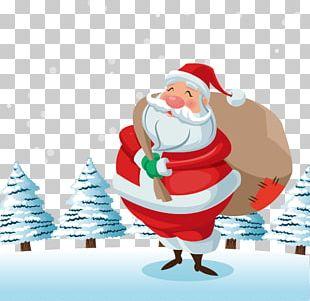 Santa Claus Christmas Gift Euclidean PNG
