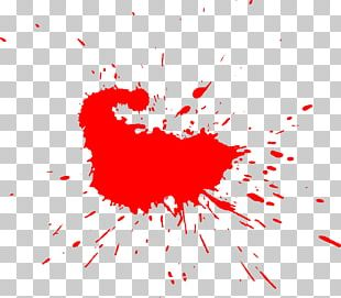 Watercolor Painting Red PNG