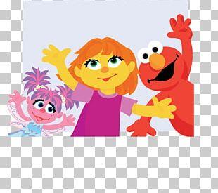 Elmo Abby Cadabby Grover Big Bird Julia PNG