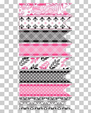 Paper Adhesive Tape Ribbon Pink PNG