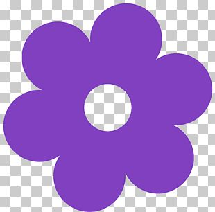 Purple Flower Yellow PNG