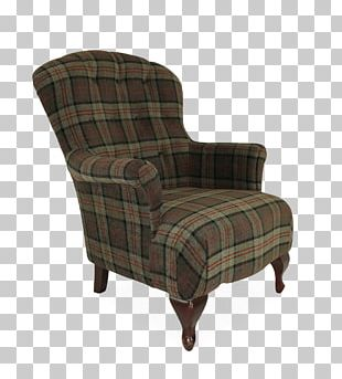 Wing Chair Table Couch Living Room PNG