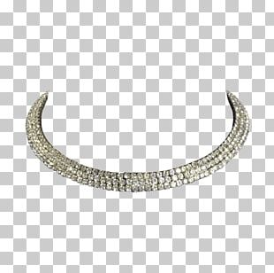 Necklace Silver PNG
