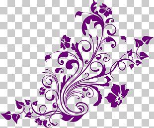 Wedding Invitation Turquoise Purple PNG