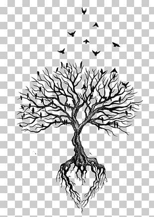 Tree Root Tattoo Bird Heart PNG