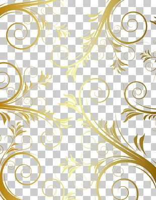 Floral Design Gold Pattern PNG