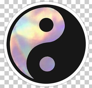 Sticker Yin And Yang Symbol Holography PNG