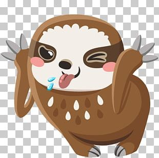 Sticker VKontakte Sloth Personal Message PNG