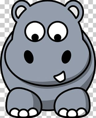 Hippopotamus Drawing Graphics Cartoon PNG