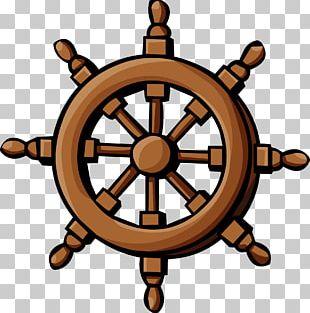 Ship's Wheel Steering Wheel PNG