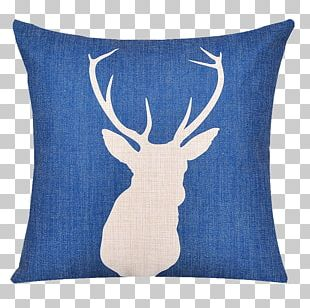 Deer Throw Pillow Cushion Couch PNG
