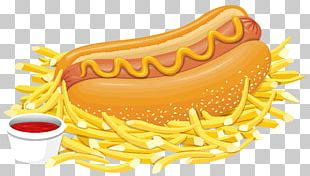French Fries Hot Dog Fast Food Hamburger Fried Chicken PNG