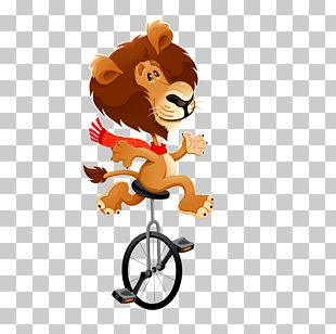 Cartoon Lion Funny Animal Illustration PNG