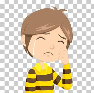 The Crying Boy Cartoon PNG