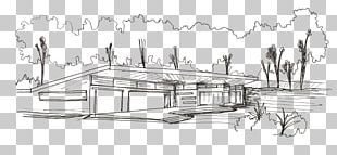 Drawing Architecture House Sketch PNG