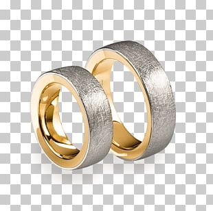 Wedding Ring Brilliant Colored Gold PNG