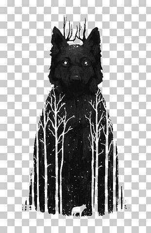 Gray Wolf Tattoo Poster Painting PNG