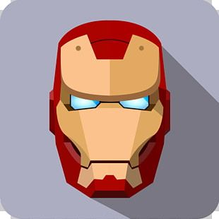 Iron Man Cartoon Avatar Superhero Icon PNG