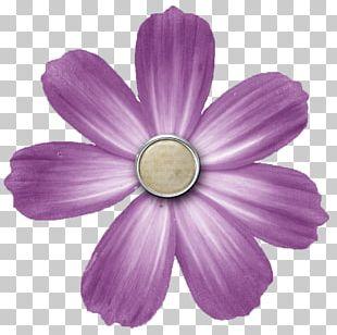 Digital Scrapbooking Flower Button PNG