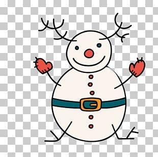 Reindeer Snowman Christmas PNG