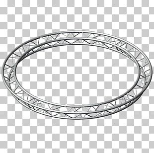 Light Circle Truss Structure PNG
