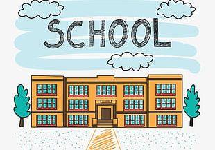 School Buildings PNG
