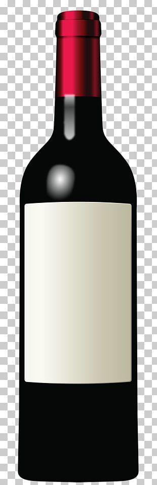 Bottle Wine Red Whitelabel PNG