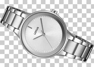 Silver Lorus Watch Strap Bracelet PNG