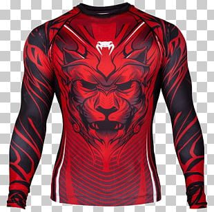 Venum Rash Guard Brazilian Jiu-jitsu Boxing Sleeve PNG