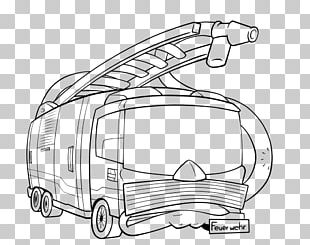 Coloring Book Car Drawing Line Art Fire Engine PNG