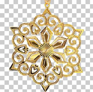 Christmas Ornament Locket Gold 01504 Body Jewellery PNG