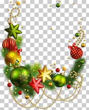 Rudolph Christmas Decoration Santa Claus Christmas Ornament PNG