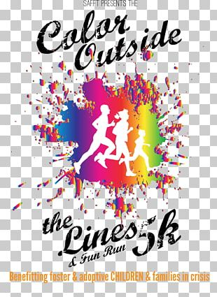The Color Run Illustration Running PNG