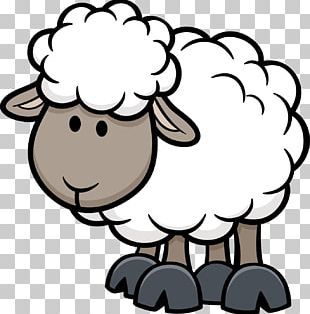 Sheep Cartoon Illustration PNG
