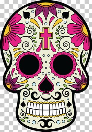 Calavera Skull And Crossbones Day Of The Dead Mexican Cuisine Death PNG