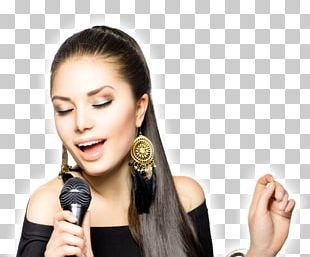 Stock Photography Microphone Singing Woman PNG