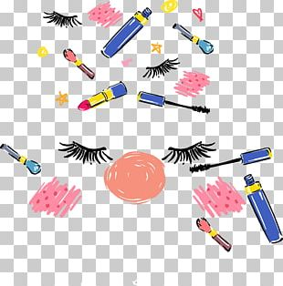 Eye Shadow Eyelash Lipstick Cosmetics PNG