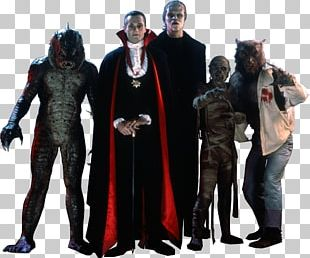 Frankenstein's Monster Gill-man Count Dracula Larry Talbot Universal Monsters PNG
