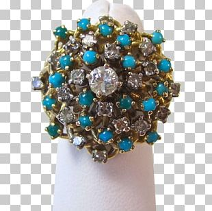 Turquoise Ring Birthstone Brooch Jewellery PNG