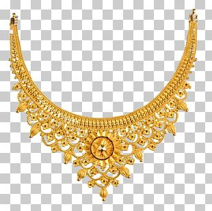 Earring Jewellery Chain Necklace Gold PNG